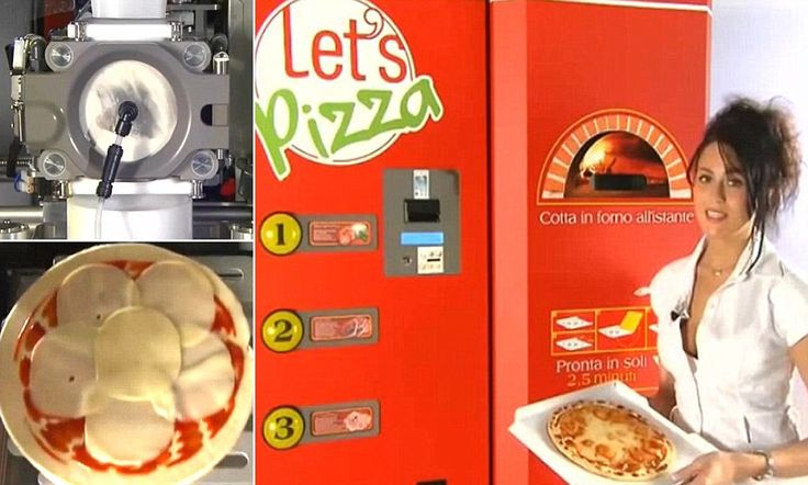Vending machine rustles up fresh pizza in just three minutes