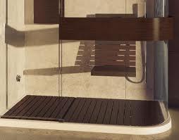 Timber floor in shower
