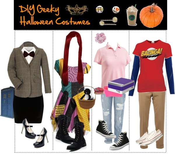 """DIY Geeky Halloween Costumes"" by the-tip-geek ❤ liked on Polyvore"