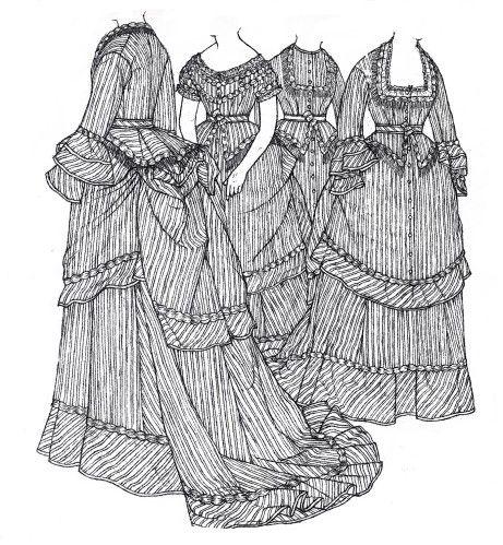 Robe, Victorien, La Mode Des Années 1870, Photo Tutoriel, Tournure,  Vêtements Vintage, La Mode Française, Pas À Pas, Libération