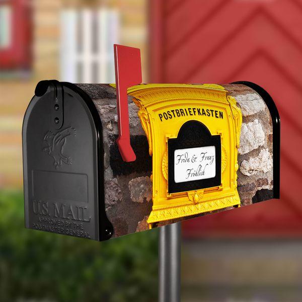 US Mailbox Schwarz Standfuß Silber Motiv Hist. Box von banjado via dawanda.com