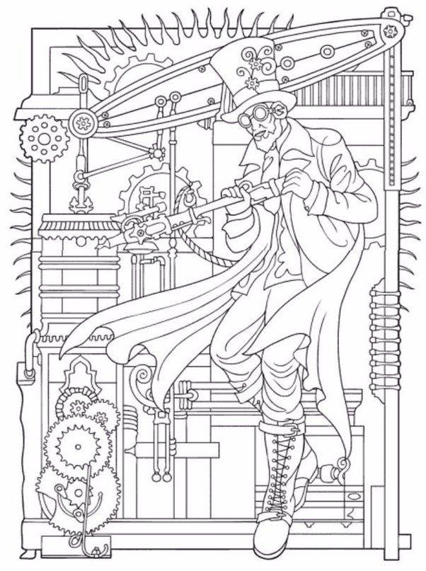 Creative Haven Steampunk Designs Coloring Book Dover Publications