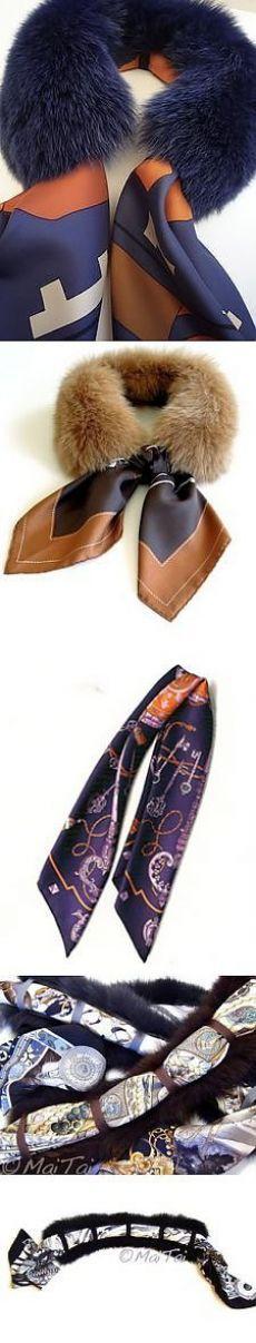 (771) Съемный меховой воротник с платком. Хорошая идея). | A Upcycled Fashion | Мех, Меховые Воротники и Шарфы