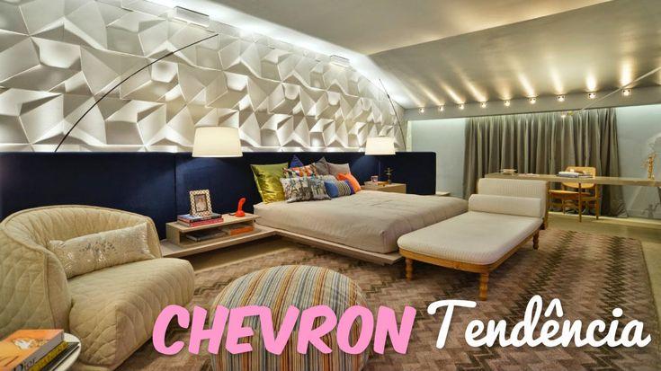 Construindo Minha Casa Clean: Estampa Chevron na Decoração! Tendência Zigue-Zague!