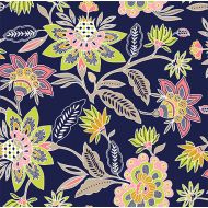 1 yard BOLT's Pure Vintage Lotus Floral Cotton Spandex Knit Fabric by Girl Charlee