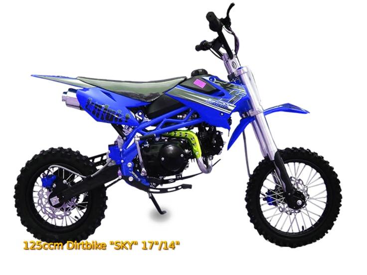 """125ccm Dirtbike """"SKY"""" sehr gutes und günstiges Einsteiger Dirt Bike. Durch Eigentests nicht kaputt bekommen."""