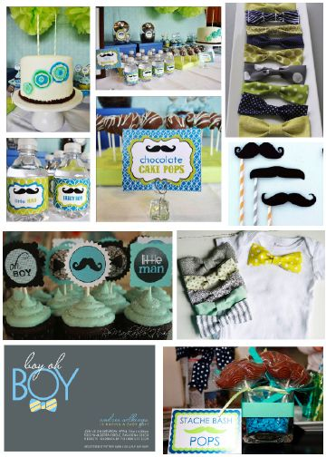 Little Man Baby Shower,sooo darn cute. If my sister @Shelby Boston Nystrom has a boy this should be the theme. Don't you agree @Style Space & Stuff Blog Franquiz ;)