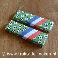 Voetbal Koetjesreep Wikkel met instructies en printable. Een lekkere #voetbal #traktatie