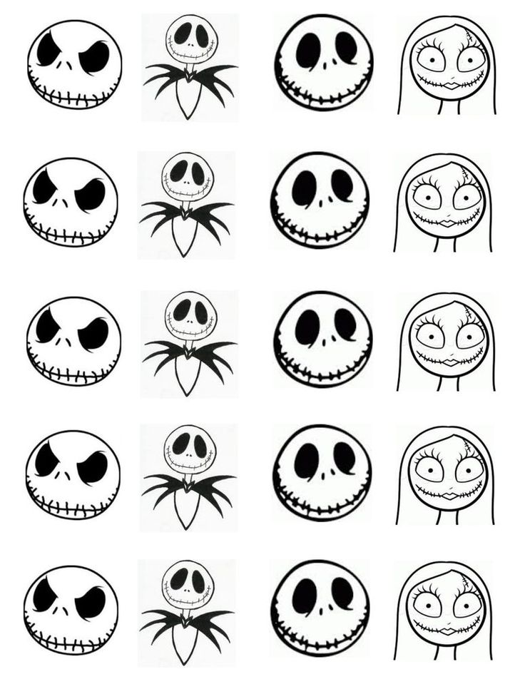 142 best images about nightmare before xmas on pinterest for Jack skellington face template
