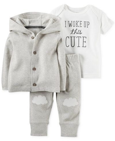 Carter's Baby Boys' or Baby Girls' 3-Piece Little Lamb Cardigan, T-Shirt &…