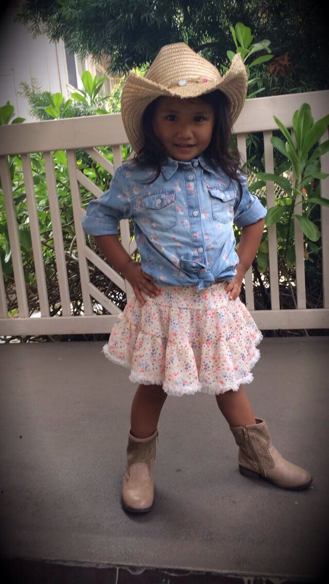 Cute Cowgirl Outfit For Toddlers