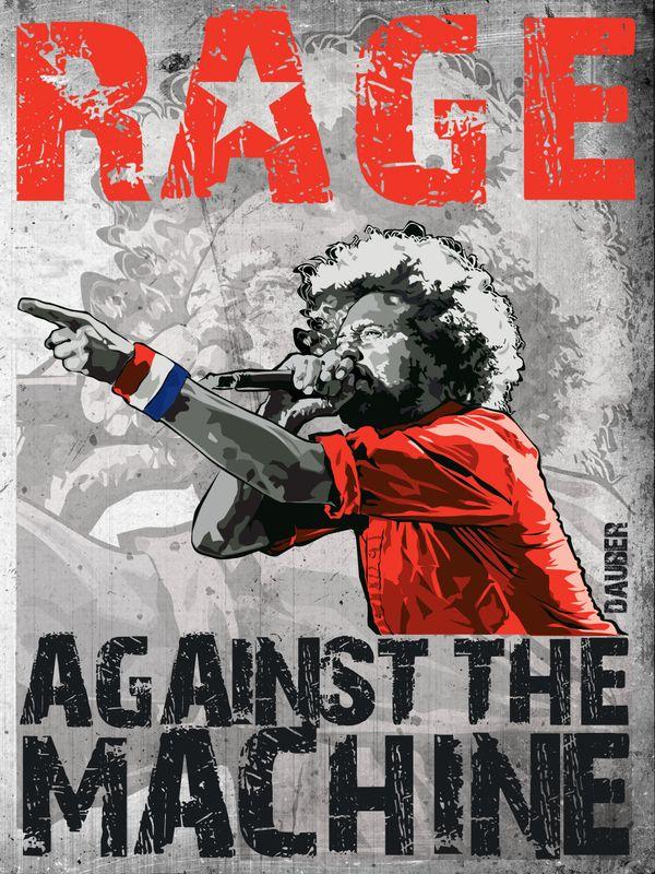 RAGE AGAINST THE MACHINE by Ivan Bozhkov, via Behance