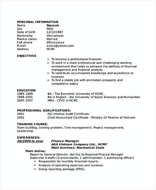 The 25+ best Accountant cv ideas on Pinterest Resume, Resume - career objective for finance resume