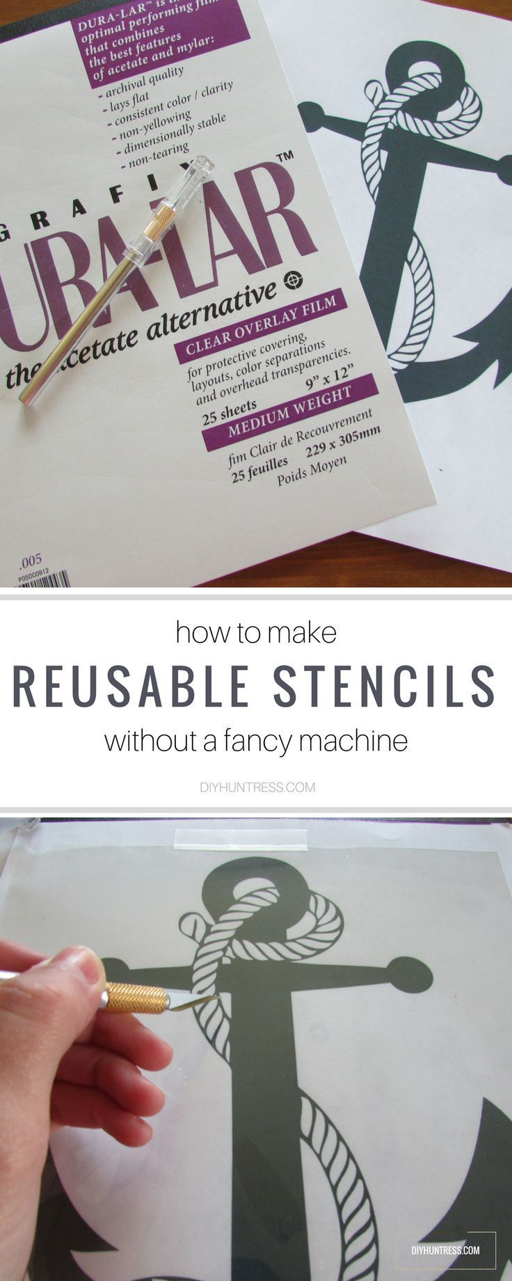 An easy way to make reusable stencils without a vinyl cutting machine!