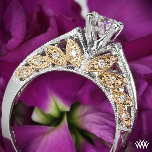 Two beautiful colors converge in this 'Delicate Blush' Diamond Engagement Ring.