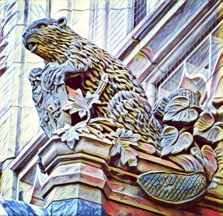 Beaver sculpture, Parliament, Ottawa, Canada