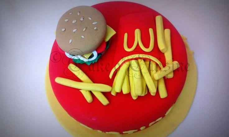 Mc Donald's themed cake