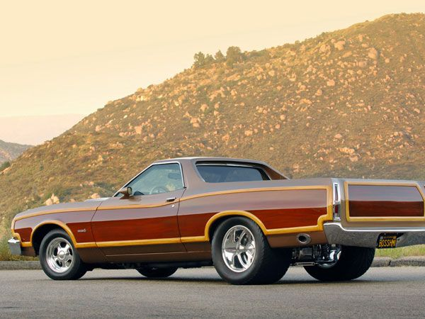 ford ranchero squire 1975 brown - 1972 Ford Ranchero Pro Street