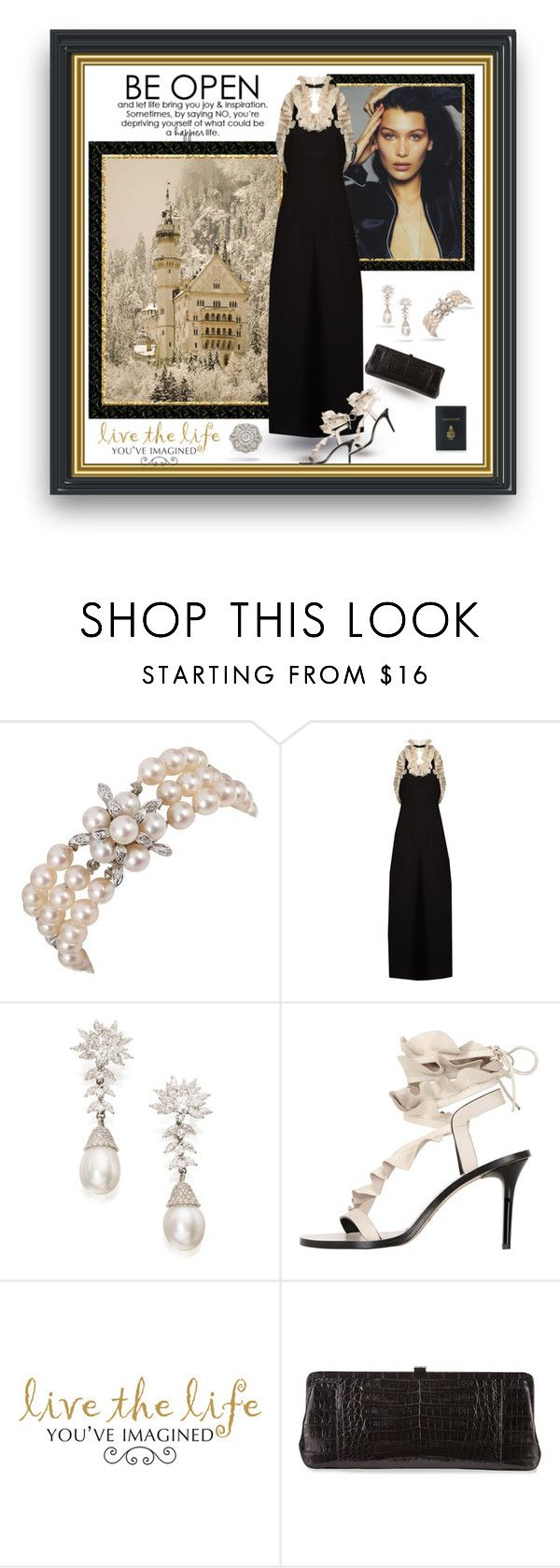"""""""Life Imagined"""" by leanne-laviolette ❤ liked on Polyvore featuring Harry Winston, Isa Arfen, Isabel Marant, WALL, Nancy Gonzalez and Mark Cross"""