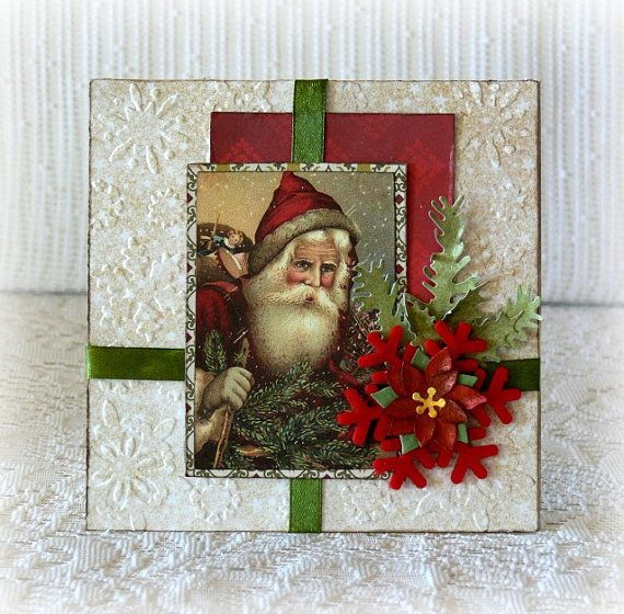Christmas card handmade  3D Christmas card  by CarmenHandCrafts