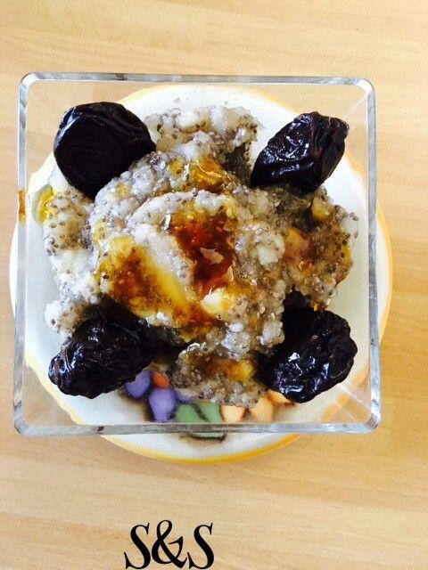 Budino di semi di chia,pere e zenzero.gluten free