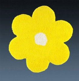 Ковер желтый цветок детский Daisy