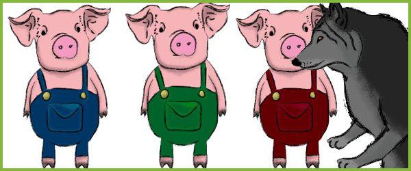 Three Little Pigs Stick Puppets...A set of beautiful 'three little ...