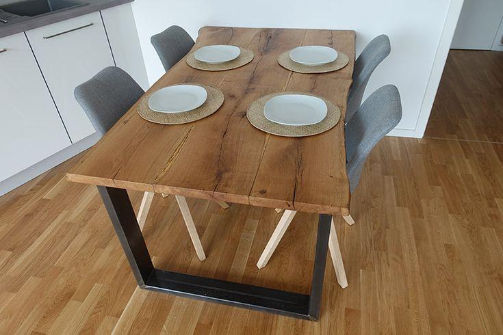 Dining Table Itself Build From Wooden Planks Dekor Kendin Yap Mobilya Kendin Yap Ev