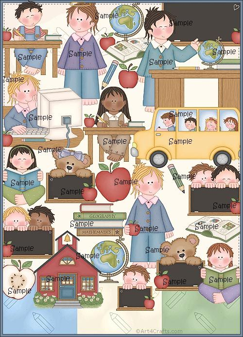 Craft Clipart 7: School