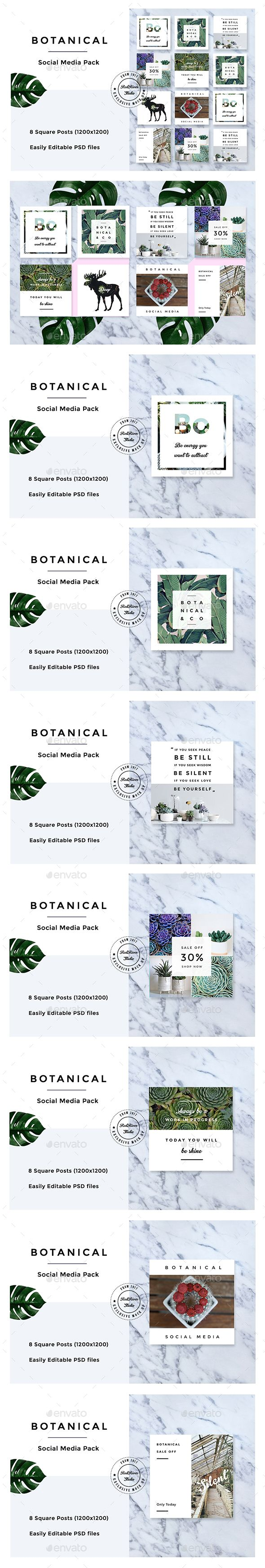 Botanical Social Media Pack The Botanical Social Media Pack is an upbeat and tropical social media pack perfect for fashion bloggers, beauty bloggers, lifestyle bloggers, fashion businesses, beauticians, and stylists. Promote your posts, business, sales and events on Facebook, Pinterest, Instagram and Twitter or add a beautiful image to your blog posts.