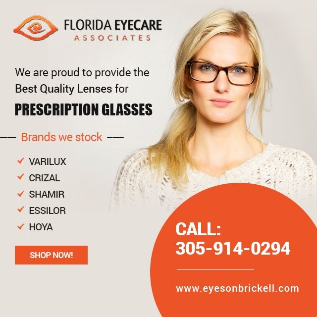 Looking for the best eyeglasses or contacts? At Eyes on Brickell, we carry the widest range of high quality sunglasses, eyeglasses and contacts to offer you at highly competitive prices... http://eyesonbrickell.com  #Varilux #Crizal #Shamir #Essilor #Hoya #ContactLens #PrescriptionGlasses #SunglassesMiami #EyewearMiami
