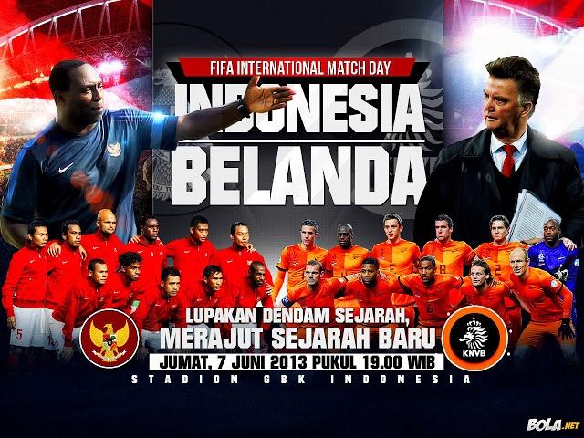 Ini adalah pertemuan pertama Indonesia dan Belanda sepanjang sejarah. Dan Belanda dipastikan akan menampilkan pemain-pemain terbaiknya yang berada dalam kondisi bugar seperti Wesley Sneijder ataupun Robin van Persie.    Read more: http://amriawan.blogspot.com/2013/06/fifa-international-match-day-indonesia.html#ixzz2VPxbpluP