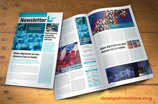 Free Indesign Newsletter Template Design No   Design