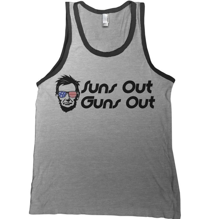 Suns Out Guns Out Tank Top - america usa 4th fourth of july abe lincoln  workout