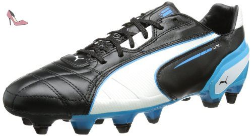Puma King Mixed Sg, Chaussures de football homme - Noir (Black/White/Fluo Blue 06), 40.5 EU - Chaussures puma (*Partner-Link)