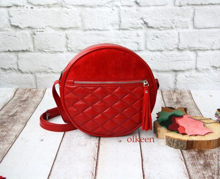 Купить Сумка кросбоди Таблетка с карманом - сумка, сумочка, сумка кожаная, сумка из натуральной кожи
