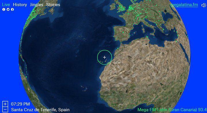 Radio Garden te permite explorar el globo terráqueo para escuchar cientos de estaciones de radio