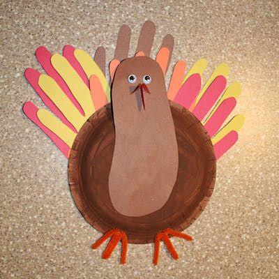 Foot and Hand Turkey Craft