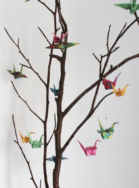 Decoracion Origami Matrimonio ~ Origami grullas decoracion para fiestas 15 casamientos bautismos bodas