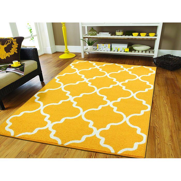 Cynthia Wool Yellow White Area Rug Area Rugs Contemporary Rugs Yellow Area Rugs