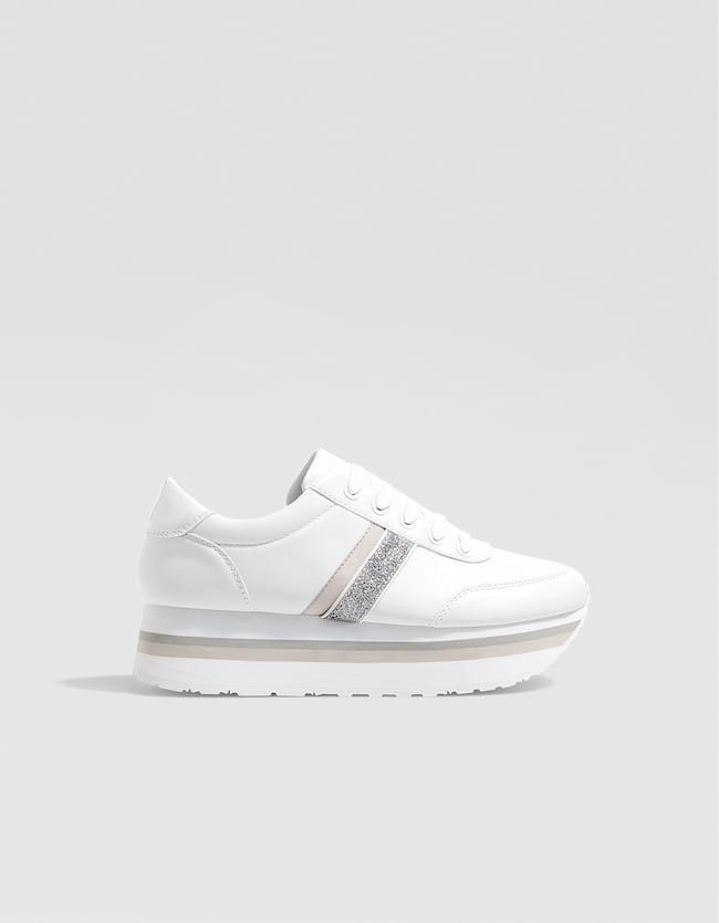 c3b7b5d5 White sneakers - All | Stradivarius United Kingdom | Boots in 2019 ...