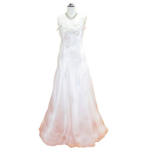 Amazon.co.jp: [ピアショップ] piashop ウェディングドレス フォーマルドレス オーガンジーラメ入り高級ドレス ピンク 9号: 服&ファッション小物通販