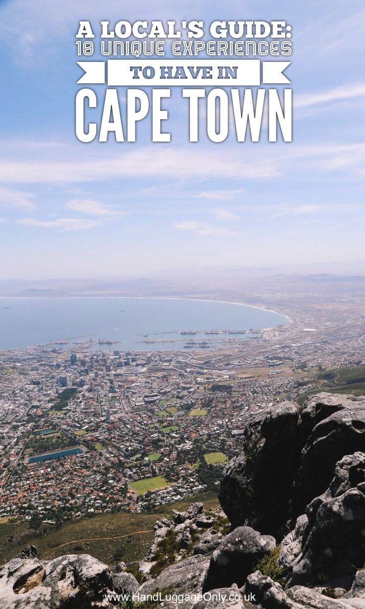 A Local's Guide: 10 Unique Experiences You Must Have In Cape Town - Hand  Luggage