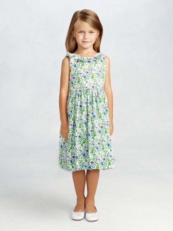 Girls' Meadow Floral Print Cotton Dress