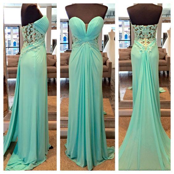 Mermaid Chiffon prom Dresses Crystals Beaded Floor Length Long party Dresses Custom Made Women 2016
