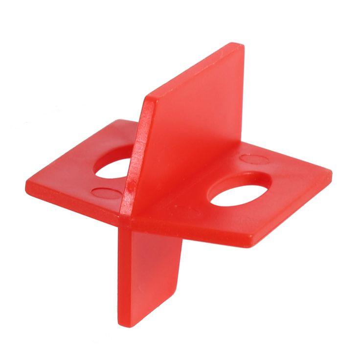 50 Unids/lote 1/16 ''Sistema de Nivelación de Baldosas Baldosas Nivelador Rojo 3 Lado Cruz Espaciador Y T Forma De Piso De Cerámica de Pared herramientas