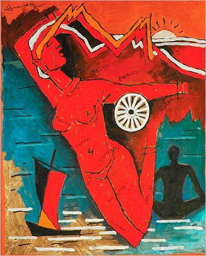"Mr. Husain's nude ""Bharatmata"" or ""Mother India."