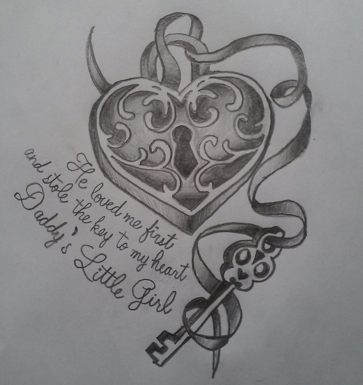 He loved me first and stole the key to my heart...daddys little girl...my own drawing! Meghan Nellis