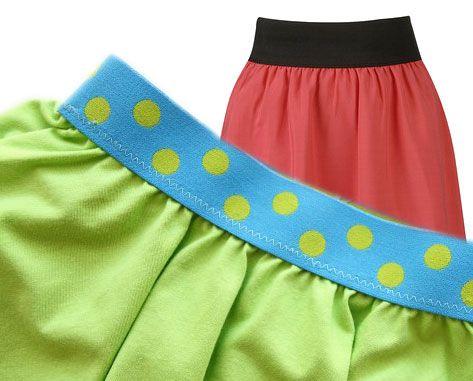 Короткие юбки на резинке