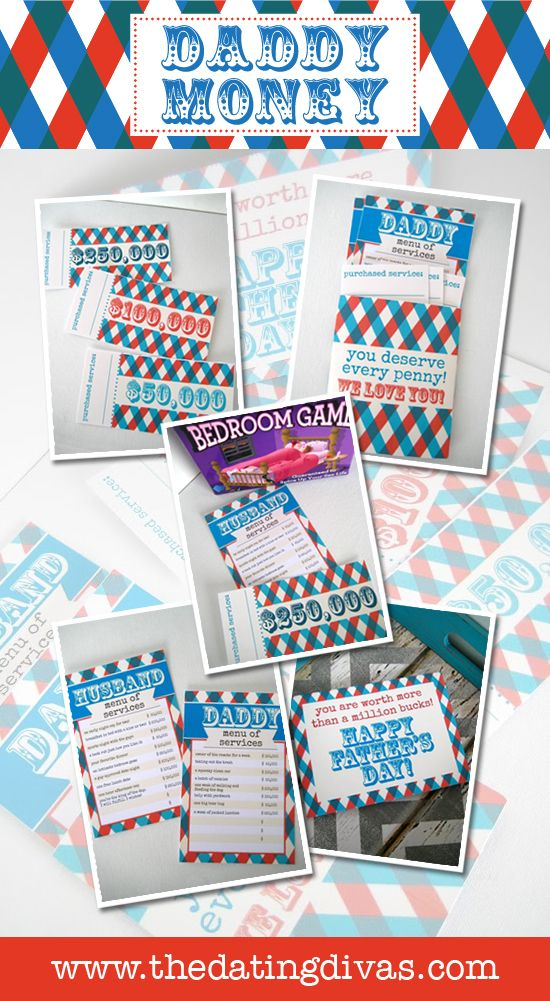 """Printable """"Daddy Dollars"""" for Fathers Day- free download!"""